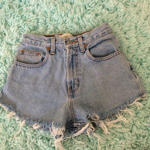 Classic Gap blue jean high waisted shorts